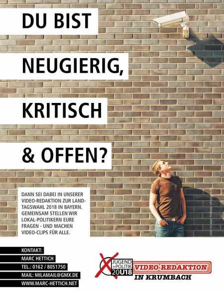 Jugendredaktion Videoprojekt zur Landtagswahl 2018